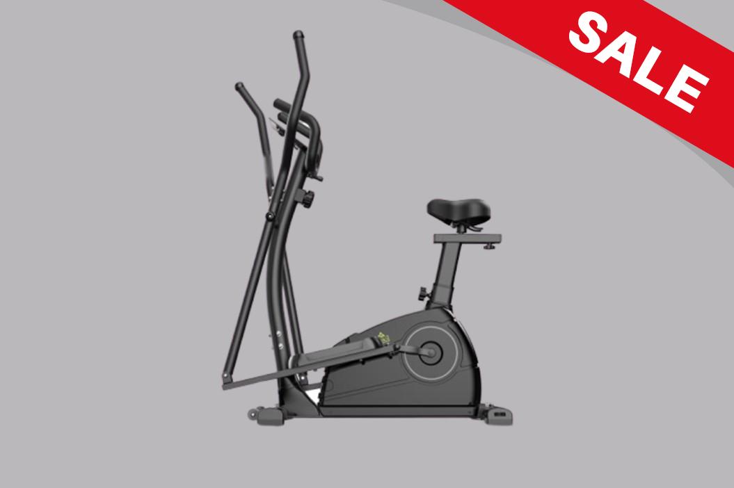 LMP-1001 Elliptical Cross Trainer & Cycling Machine (Black)